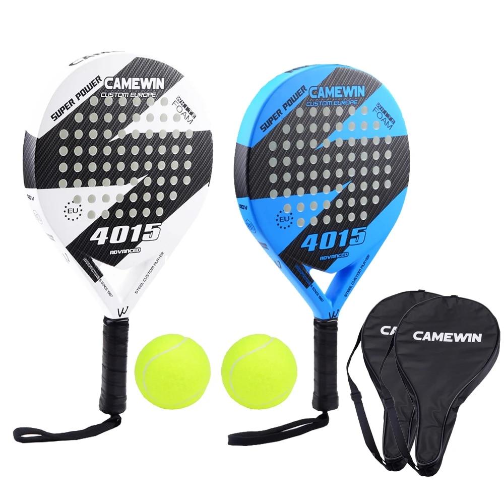 New Popular Padel Tennis Racket Carbon Fiber Men Women Sport Tennis Paddle  Set with 2 Racquets 2 Bags and 2 Balls|Tennis Rackets| - AliExpress