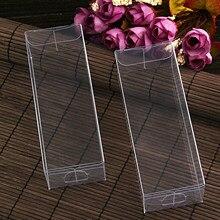 Caja de PVC transparente con forma de almohada para regalos, embalaje de regalo para dulces, decoración de recuerdo de fiesta de boda, 10 unids/lote