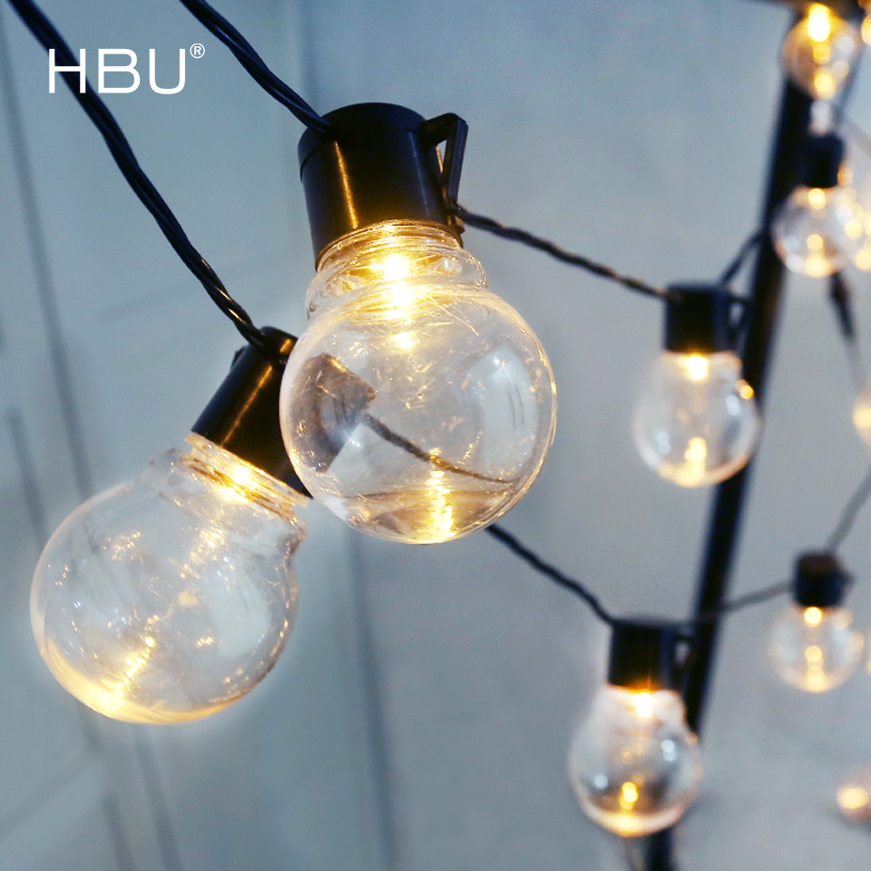 Christmas Lights Outdoor Decorations For Home Led String Lights Bulb Fairy Lighting Color Decor Indoor String Garden Tree Xmas 1