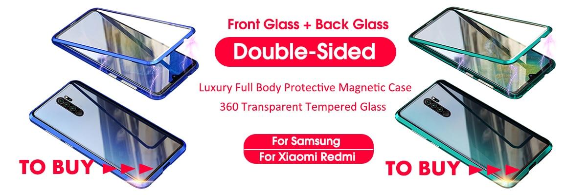 Ha7fb0ffc5e024e9fab09e8954782ab1fr 3-in-1 Plastic Hard 360 Tempered Glass + Case for Xiaomi Redmi Note 7 Anti-Shock Back Cover Case for Xiaomi Redmi Note 7 Pro 7A