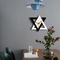 Novo quente relógio de parede 3d estilo nórdico simples abstrato relógios quartzo clássico diy quarto decoração da sua casa