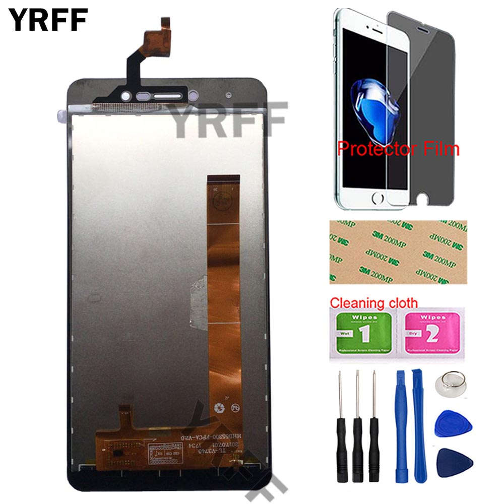 SHIFENX LCD Screen and Digitizer Full Assembly for BQ BQ-5591 Jeans Black Replacement Part Color : Black