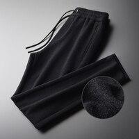 Velvet Fabric Luxury Soft Slim Fit Skinny Plus Size 4xl Elastic Waist Men's Trousers Casual Pants Men