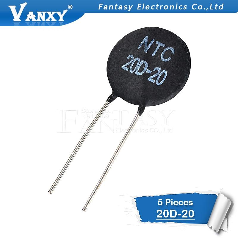 5pcs NTC Thermistor Resistor NTC 20D-20 Thermal Resistor