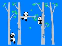 Large Size 348*243cm Big Tree pandas Decal Wall Decor DIY Murals Wall Sticker For Nursery Decals Creative Home Decoration LC1512