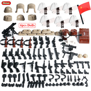 Image 2 - Oenux WW2 The Battle Of Moscow Military Scenes Small Building Block Mini Soviet Russian Army Soldier Figure Brick Block Kids Toy