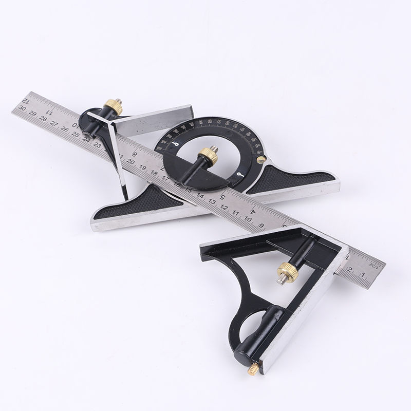 Square 90-Degree Woodworking Thick Multi-functional Right Angle High-Precision Stainless Steel Universal Ruler Non-Combination A