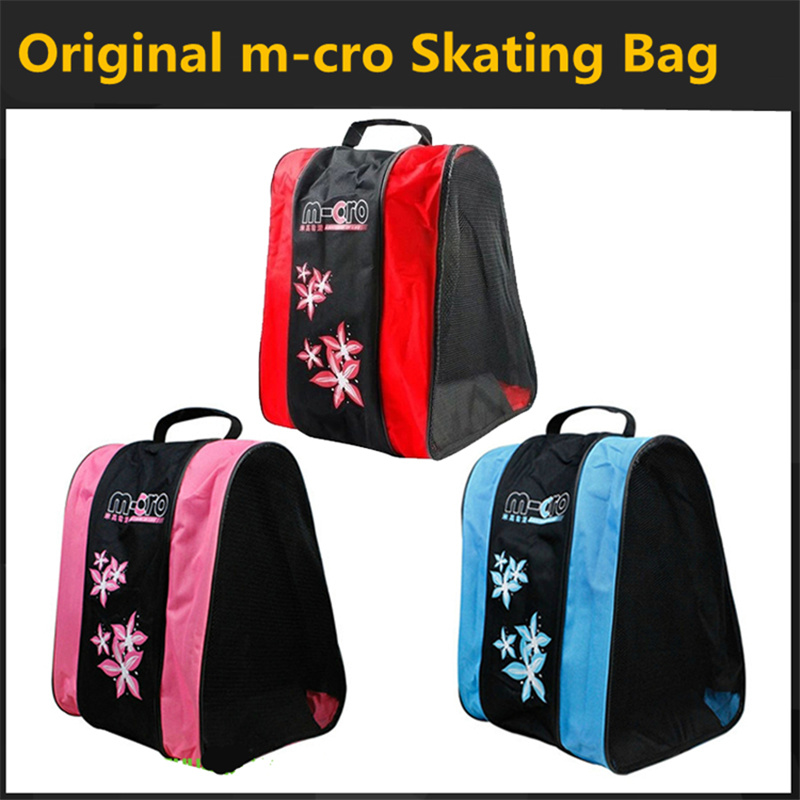 Kid's Inline Skates Shoes Roller Skating Patines Container For Children Skating Bag Red Blue Pink Boy Girl Light Carry Handbag