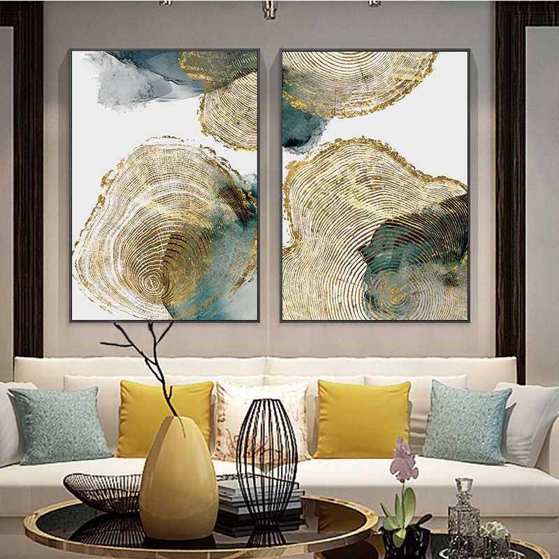 ورقة وجذع نسيج مجردة جدار الفن قماش المشارك طباعة الشمال لوحة فنيّة ديكور غرفة المعيشة الحديثة ديكور