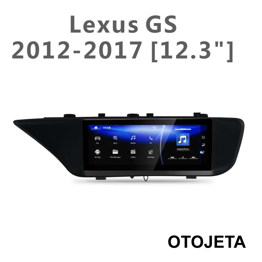 12.3inch Screen Radio Smart Android 9.0 GPS for <font><b>Lexus</b></font> <font><b>GS350</b></font> GS250 GS400 GS300 GS300H Car bluetooth multimedia Premium Navigation image
