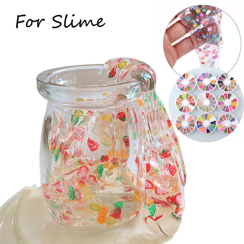 slime supplies Fruit Cake Slices SoftScented Stress Relief Toy Sludge Toys For Slime zabawki dla dzieci  brinquedos #4S16 (7)