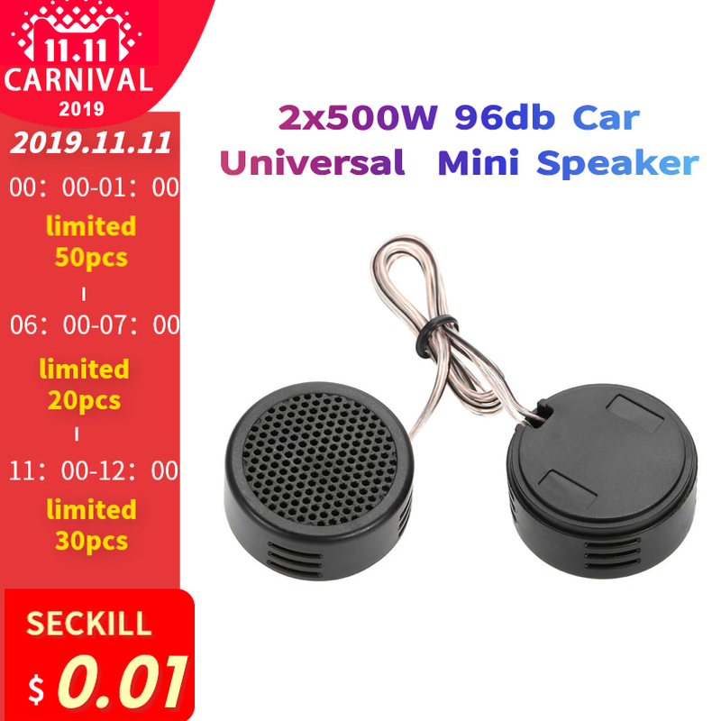 2x500W 96db <font><b>Car</b></font> Universal High Efficiency Mini Loud Auto Super Power Loud <font><b>Audio</b></font> Dome <font><b>Speaker</b></font> Sound <font><b>car</b></font> tweeters image