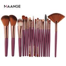 MAANGE 6/15/18/20 pièces pinceaux de maquillage ensemble d'outils cosmétique poudre ombre à paupières fond de teint Blush mélange beauté maquillage brosse Maquiagem
