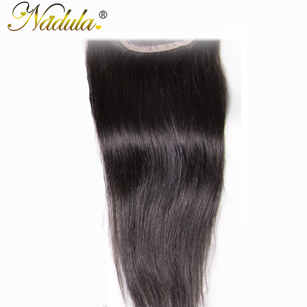 Nadula Hair 4X4 Lace Closure Straight  Closure With Baby Hair Swiss Lace Medium Brown  Closure 8-18inch 4