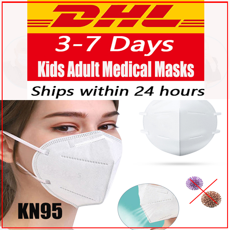 KN95 Face Mask CE FDA 4-Layer N95 Protection Dust Masks 95% Filtration Respirator Anti-Fog Antibacterial Filter PM2.5 Breathable