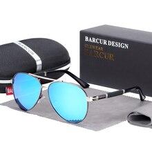 BARCUR الطيار النظارات الشمسية الذكور نظارات شمسية مستقطبة الرجال نظارات رياضية Lunette دي Soleil أوم