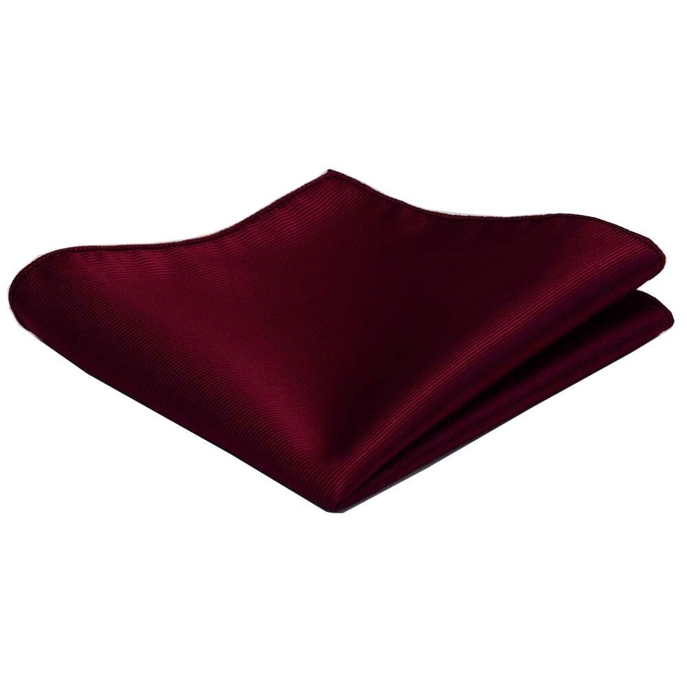 Classic 25*25CM Men's Plain Silk Handkerchief Solid Pocket Square Fashion Men Hanky For Wedding Party Chest Towel