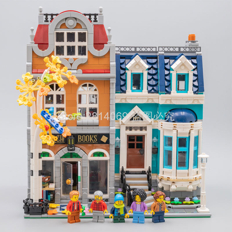 Presell 10270 Bookshop 2524Pcs Creator City Street View Model Building Kits Blocks Bricks Toys Children Gift Compatible 10201