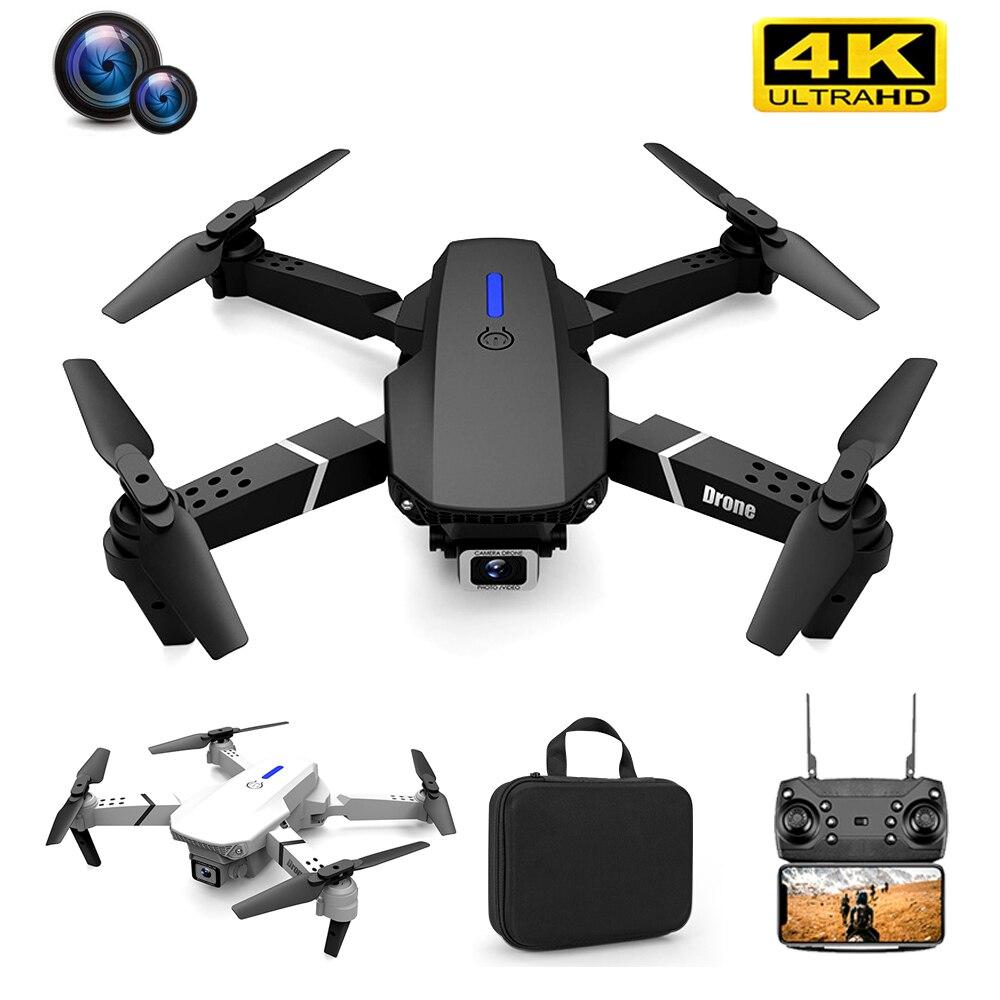Mini zangão 4k profissional hd fpv rc dron quadcopter com 4k/1080p/nenhuma câmera ufo drones voando brinquedos para meninos adolescentes criança zangão
