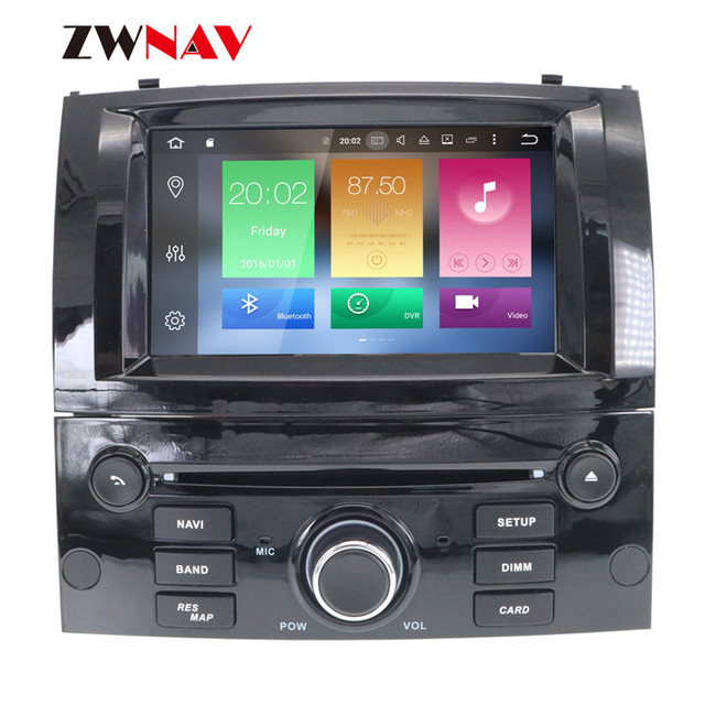 Android 10 DSP IPS HD Screen For Peugeot 407 2004 2005 2006 2007 2008 2009 2010 Car GPS Navi Radio Screen android Display Black