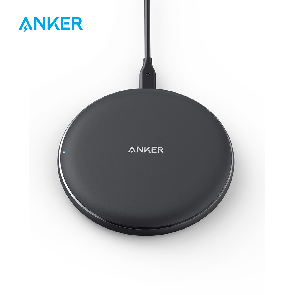 Anker 10W Wireless Charger,Qi-Certified Powerwave Pad Upgraded,7.5W for iPhone,10W Fast-Charging for Galaxy S10/S9/S8/Note 9etc