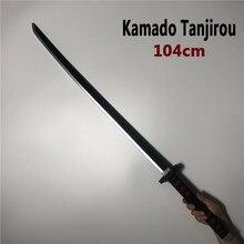 104 см Kimetsu no Yaiba меч оружие демон Slayer Kamado Tanjirou косплей меч 1:1 аниме ниндзя нож PU Игрушка