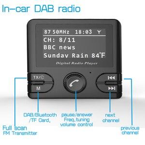 Image 5 - Mini DAB dijital radyo alıcısı Bluetooth MP3 müzik çalar FM verici adaptörü için renkli LCD ekran araba aksesuarları