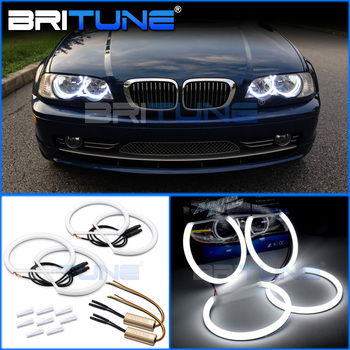 Cotton Light LED Angel Eyes DRL Halo With Turn Signal Light For BMW 3 5 7 Series E46/E36/E38/E39 Cars Headlight DIY Tuning 131mm