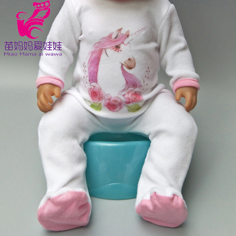 Doll Unicorn Romper Clothes For 40cm 43cm Born Baby Doll Wear Sets For 18 Inch Doll Coat Accessories Toys Wear