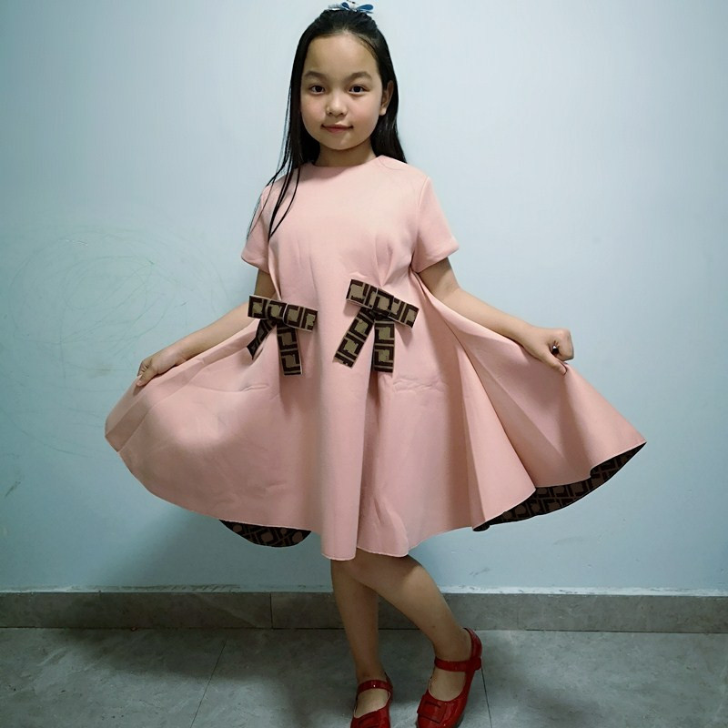 High end new summer girl dresses, fashion party children's dresses,Princess Princess cute pink bow dress Dresses  - AliExpress