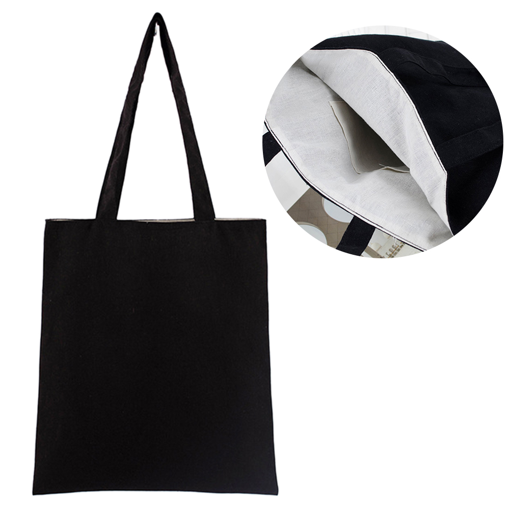Tote Bag Reusable Natural Storage Multipurpose Eco Freindly Solid Soft Washable Cotton Blend Shopping School Large Capacity