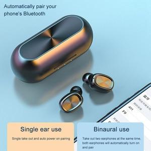 Image 5 - B5 TWS Bluetooth 5.0 Tai Nghe Không Dây Tai Nghe Có Mic Thể Thao Chống Nước Mini Tai Nghe Nhét Tai Tai Nghe Cho iPhone IOS Điện Thoại Xiaomi