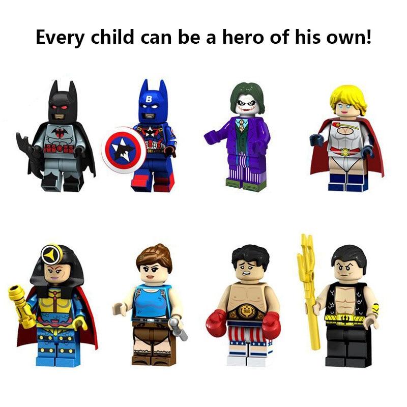 New Master Batman Figure Crazy Quilt Master Batman Cacique Killer Moth Arrow Alfred Marvel Building BlockS Toys For Children