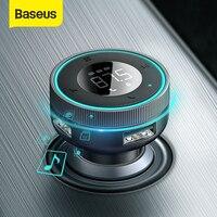 Modulatore trasmettitore FM Baseus Bluetooth 5.0 adattatore vivavoce per auto Aux 3.4A caricatore per auto doppio USB trasmettitore Radio lettore MP3