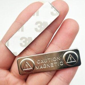 Новые 10 шт. прочные магнитные именные метки значок металлическая застежка ID-карта прочный держатель для крепления SCI88