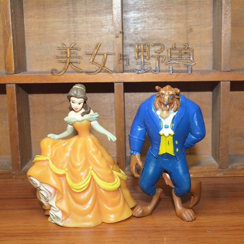 2piece/lot 8cm Original Beauty And Beast Belle Princess Collection Figure Belle Decoration Figure Toys