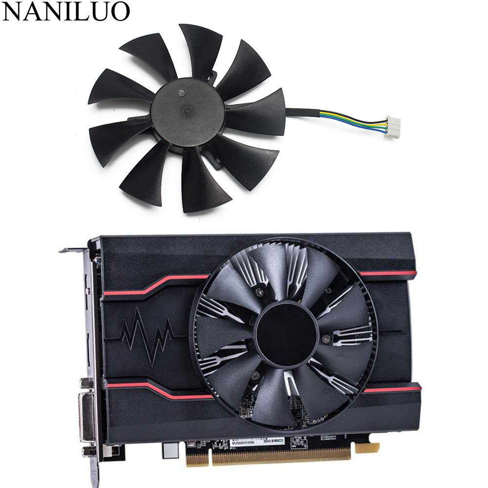 85MM GA91S2H 4PIN <font><b>RX</b></font> <font><b>550</b></font> GPU VGA Alternative Cooler For Radeon SAPPHIRE RX550 PULSE Video Graphics Card Cooling image