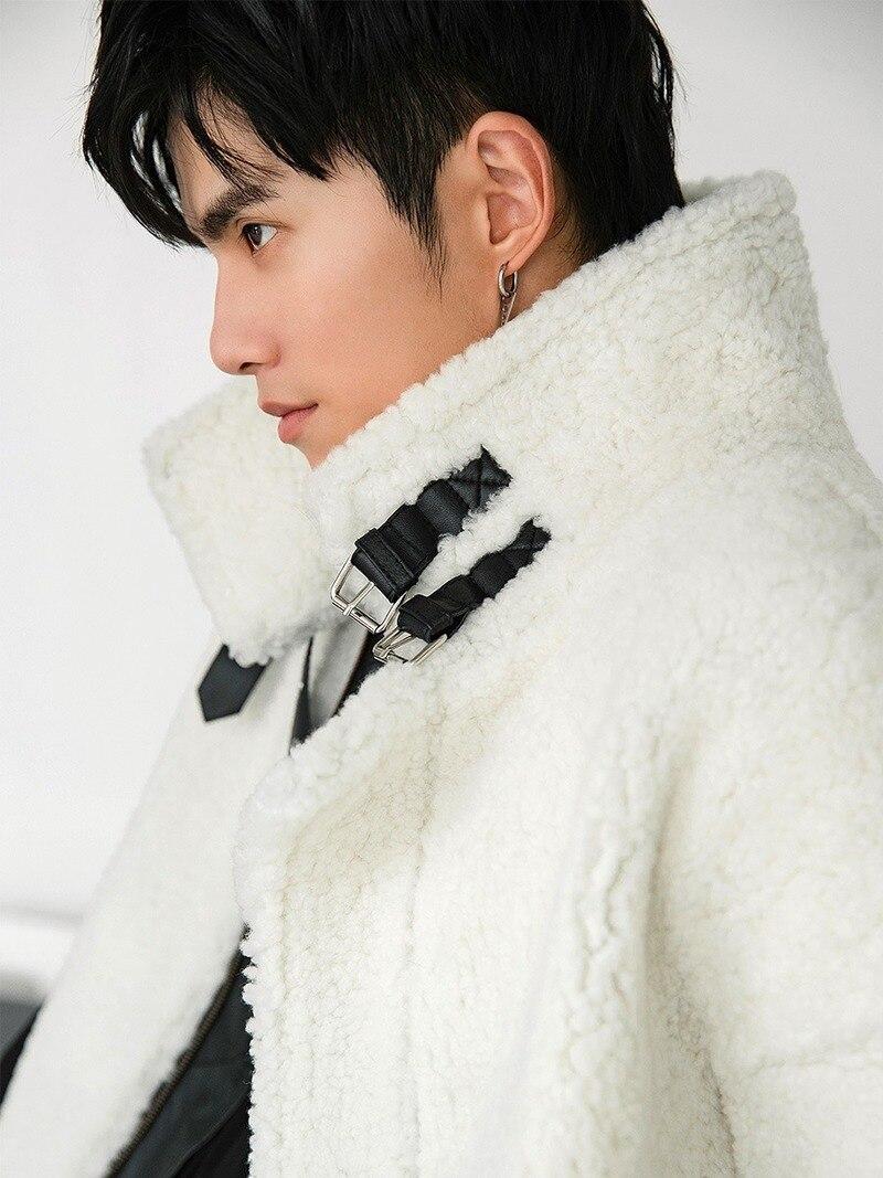 Men's Real Fur Coat Autumn Winter Natural Sheep Shearling Jacket Men Luxury Coat Men Clothes 2020 Genuine Leather Jackets 18154