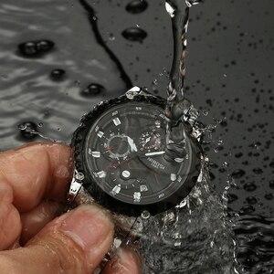Image 4 - NIBOSI reloj deportivo para hombre, de pulsera, de cuarzo, resistente al agua, grande a la moda, de acero inoxidable, Masculino, 2021