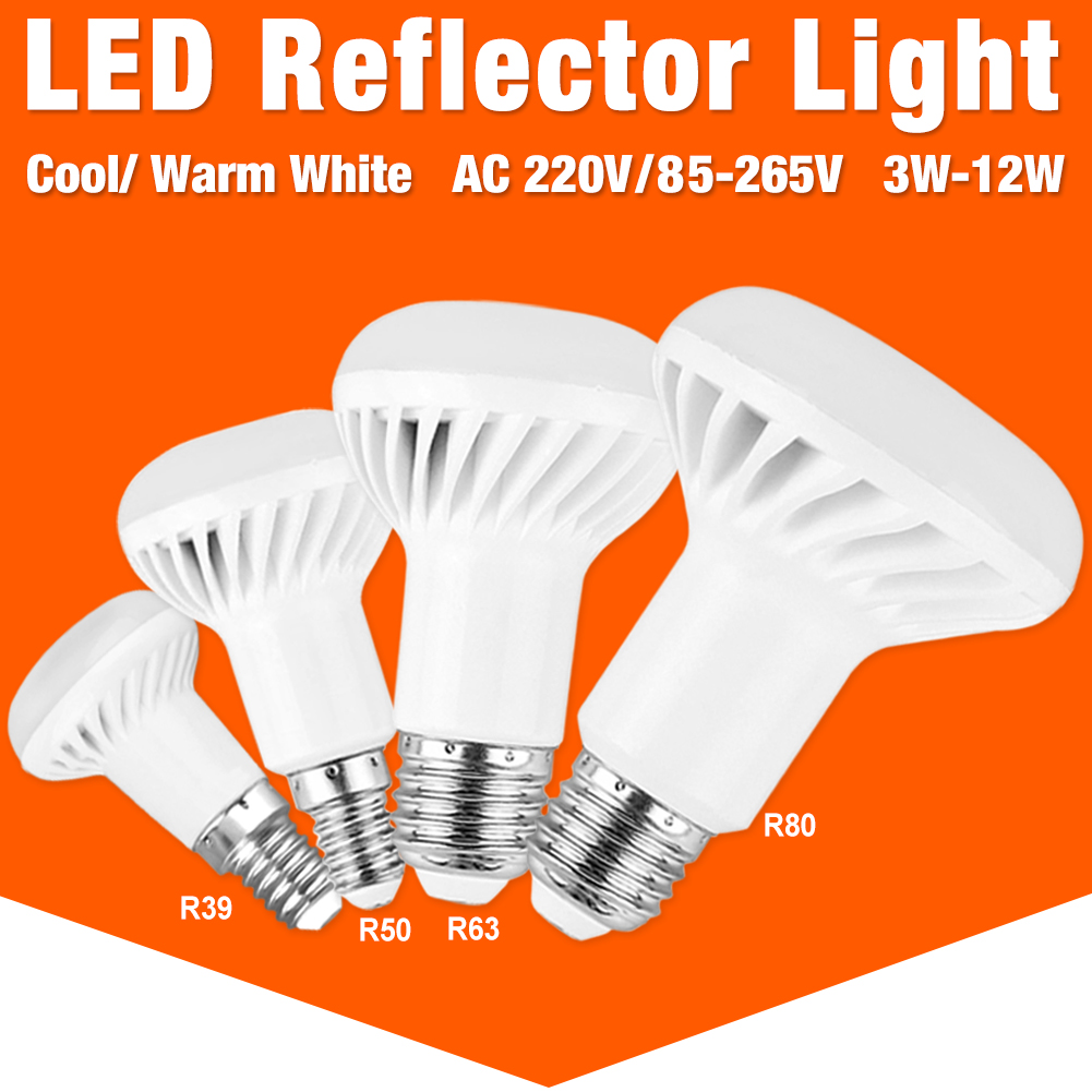 E14 E27 Led Bulb R39 R50 R63 R80 Bombillas Lamp Lampada Ampoule Spotlight Light 5W 7W 9W 12W Energy Saving Home 220V 110V