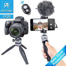 ARTCISE DT20 Desktop Stativ für Telefon Gopro Vlog Mini Tabletop Stativ und Kalten Schuh Ball Kopf Für Smartphone DSLR Kamera 2 in 1