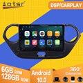 Автомагнитола для Hyundai I10 2013 2014-2016 Android 10, магнитола, мультимедийный плеер, стерео GPS навигация видео PX6, головное устройство № 2 din