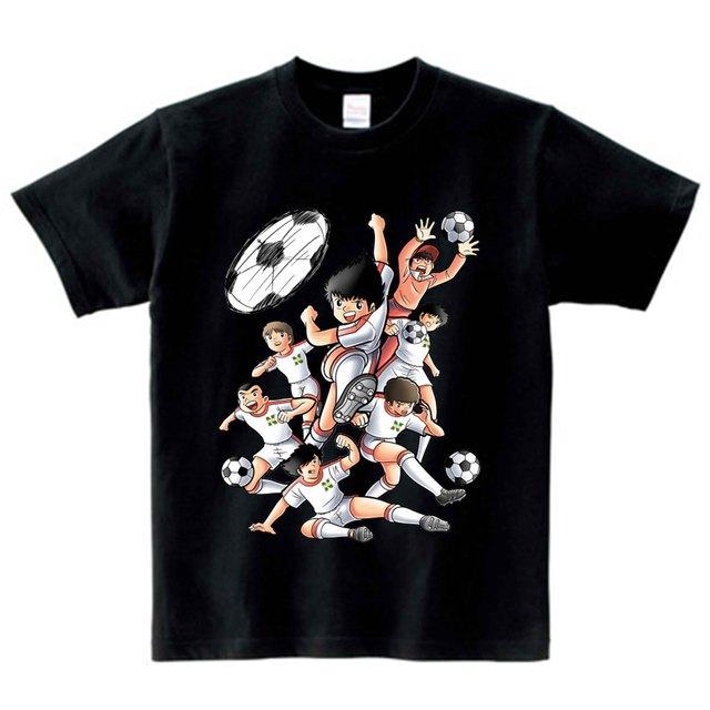 Anime Captain Tsubasa T Shirt Children Summer Leisure Short Sleeve t shirt Boy Football Motion T-shirts For Boys Girls Top 3T-9T 2