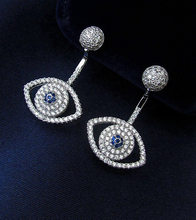 NEW SALE Wholesale European Crystal from Swarovski Fashion jewelry jewelry S 925 Sterling Silver wedding earrings(China)