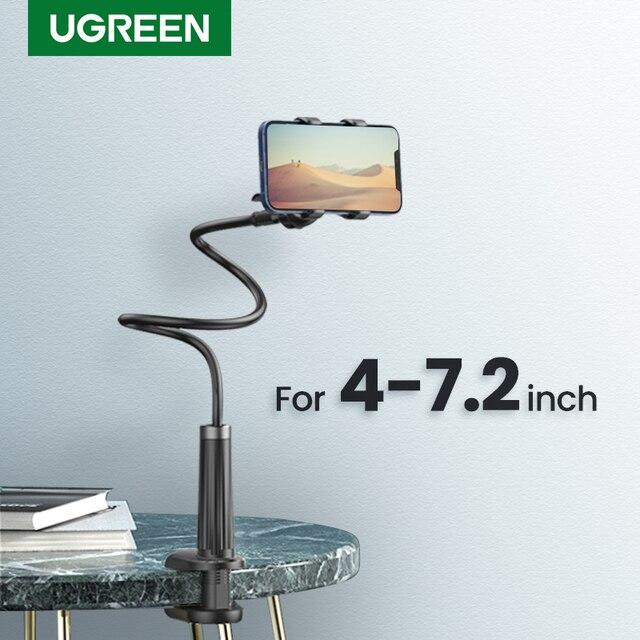 Ugreen טלפון מחזיק זרוע עצלן נייד טלפון Goosneck Stand מחזיק עבור iPhone 8/X גמיש מיטת שולחן שולחן קליפ סוגר עבור טלפון