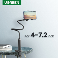Ugreen Phone Holder Arm Lazy Mobile Phone Goosneck Stand Holder for iPhone 8/X Flexible Bed Desk Table Clip Bracket for Phone