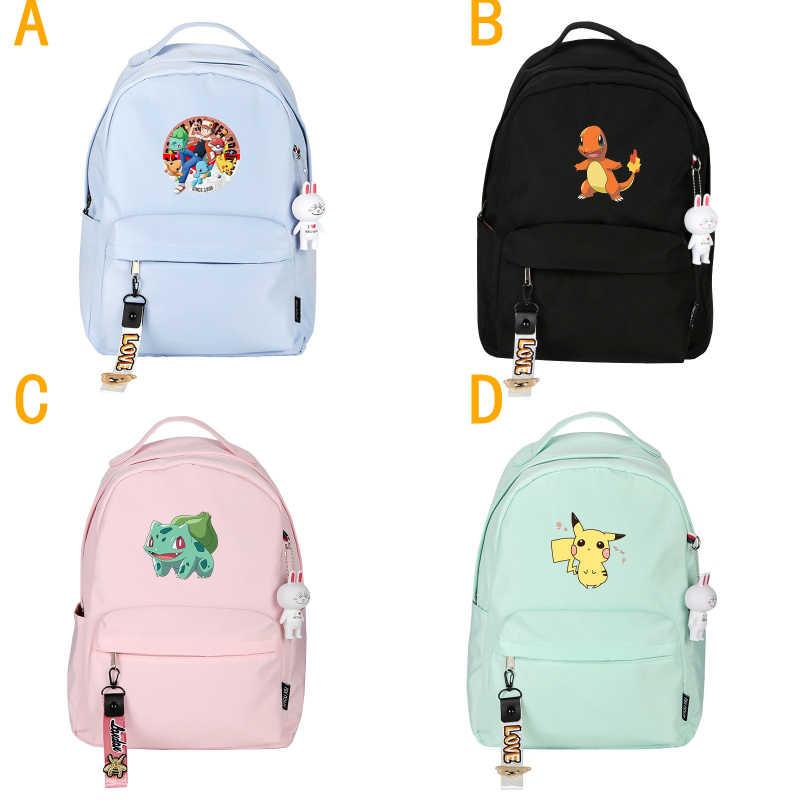 Anime Pokémon Cartoon pikachu Cosplay studenci tornister podróży plecak tornister dla dzieci dziewczyny chłopcy nowy plecak torba na ramię prezenty