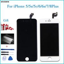 ЖК дисплей и тачскрин для iPhone, ЖК дисплей и дигитайзер для iPhone 5 5s 6 6s 7 4 4S 8 Plus SE, закаленное стекло и другие подарки