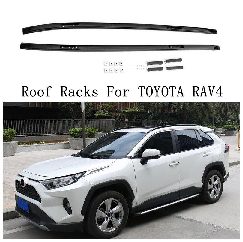 roof rack for toyota rav4 rav 4 2019 2020 2021 aluminum alloy rails bar luggage carrier bars top bar racks rail boxes