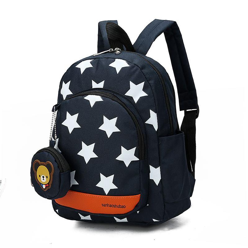 24x10x28cm Children Star Bag Kids Baby School Bag Children's Backpack Infantis Knapsack School Supplies Rucksack Boys Girls